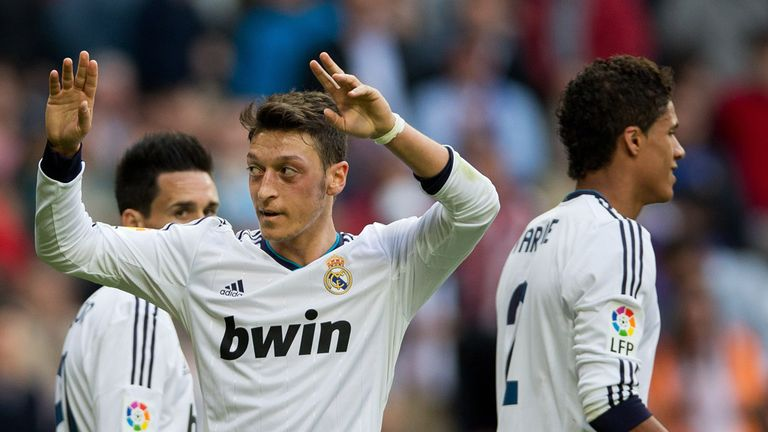 Mesut Ozil: Impressed with two goals against Real Betis