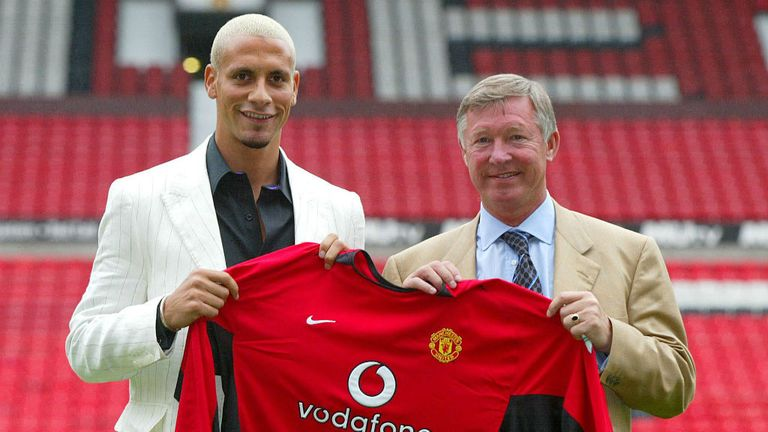 Rio Ferdinand: Defender arrives at Old Trafford back in 2002