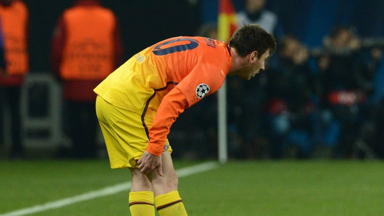 Lionel Messi: Injured against PSG