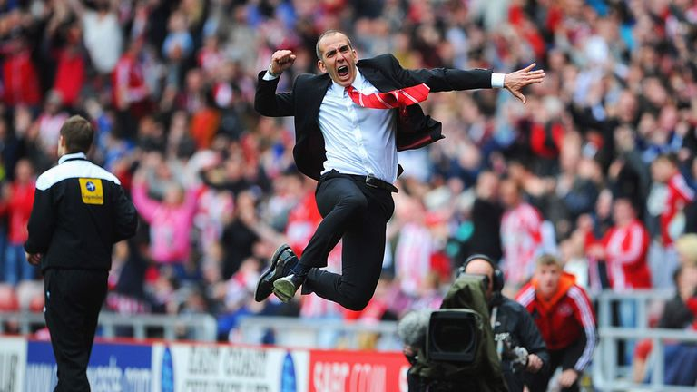 Paolo Di Canio: Jumping for joy after Sunderland victory