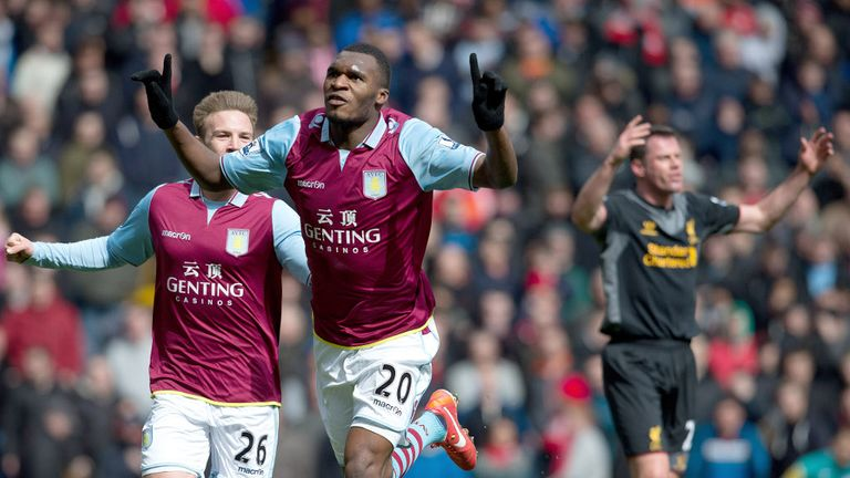 Christian Benteke: Aston Villa manager Paul Lambert has praised striker