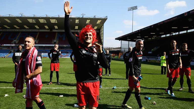 Craig Conway: Cardiff midfielder celebrates clinching Championship title