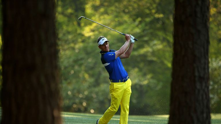 Luke Donald: Fine-tuning during a practice round at Augusta prior to the start of the Masters