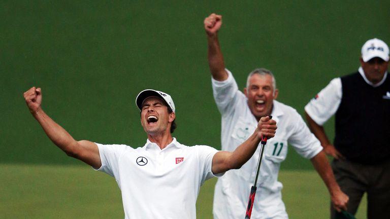 Adam Scott: The Australian celebrates his first major win