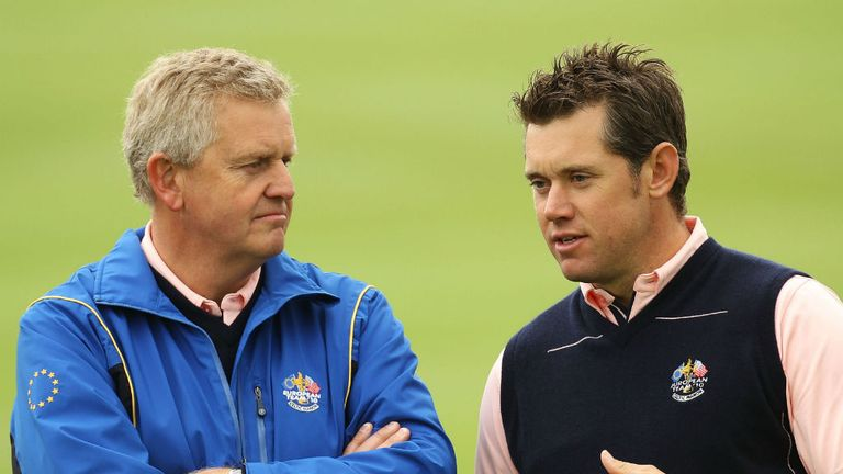 Colin Montgomerie (L) feels Lee Westwood's chances of winning a major are quickly running out