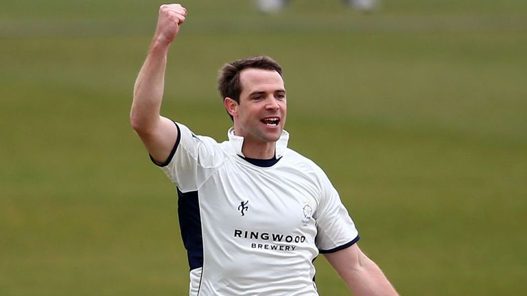 James Tomlinson: Took two wickets to leave Worcestershire struggling to avoid the follow-on