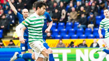 Miku scores for Celtic in the recent victory at Inverness
