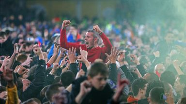 Kevin McNaughton: Celebrating promotion with fans