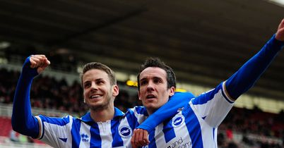 Andrea Orlandi and David Lopez: Have helped Brighton into play-offs