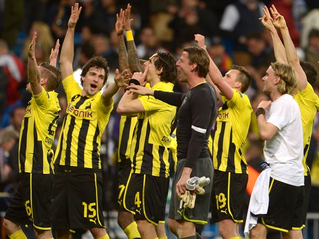 Joy for Dortmund as they advance to the CL final