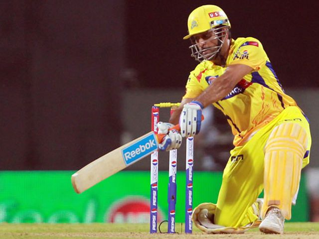 Mahendra Singh Dhoni: Hit an unbeaten 58 as the Super Kings posted 168-4