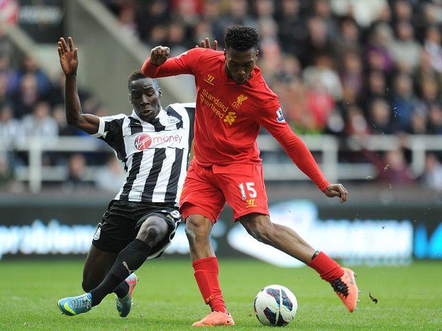 Daniel Sturridge scores Liverpool's third goal of the game