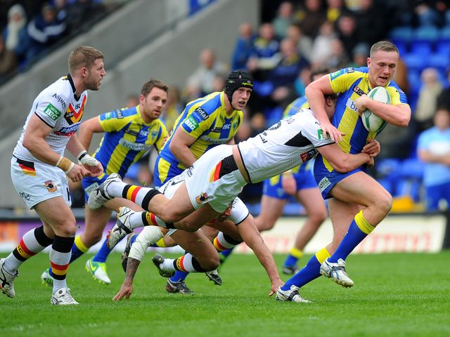 Ben Currie in action for Warrington.