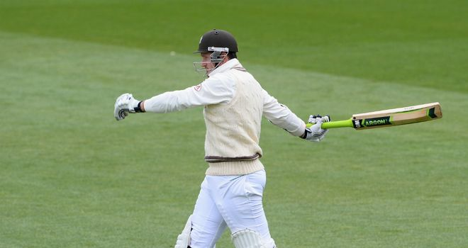 Graeme Smith: South African's debut innings for Surrey lasted 12 minutes