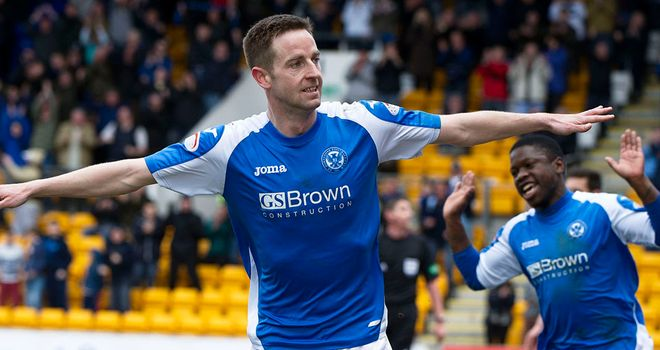 Steven Maclean: Makes it six goals in four games for St Johnstone