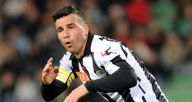 Antonio Di Natale celebrates his winner against Lazio