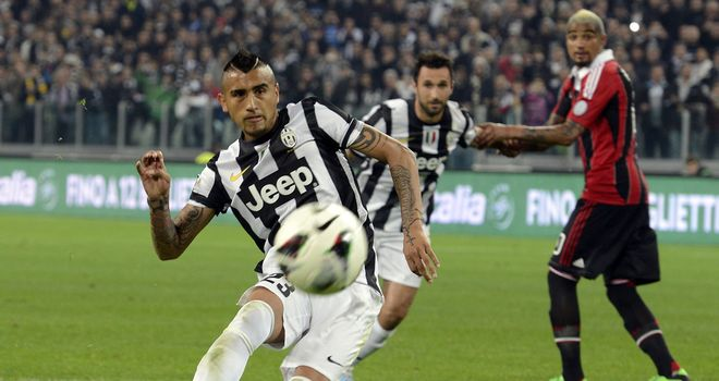 Arturo Vidal tucks away the vital penalty