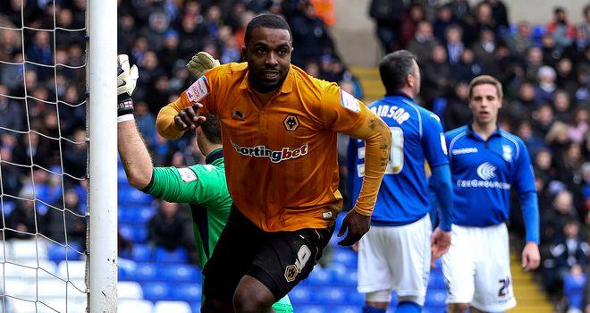 Sylvan Ebanks-Blake: Scored twice as Wolves beat Birmingham
