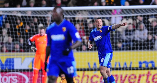 Troy Deeney: Celebrates winner over Hull