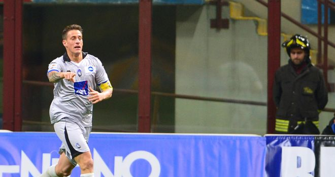Denis: Three goals for Atalanta