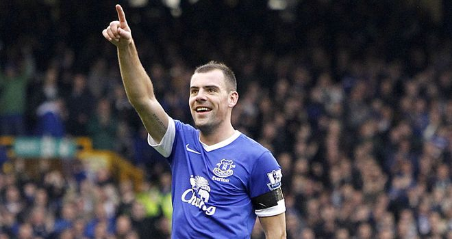 Darron Gibson: Celebrates his deflected opener
