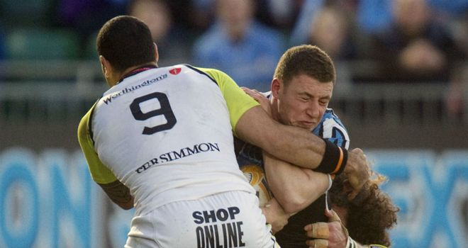 Duncan Weir: In action against the Ospreys