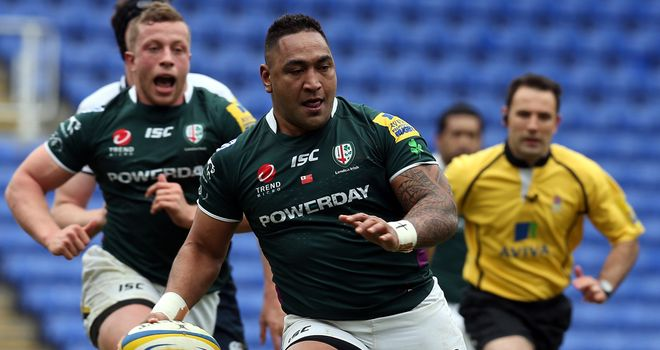 Halani Aulika: Has scored four tries in as many games for London Irish