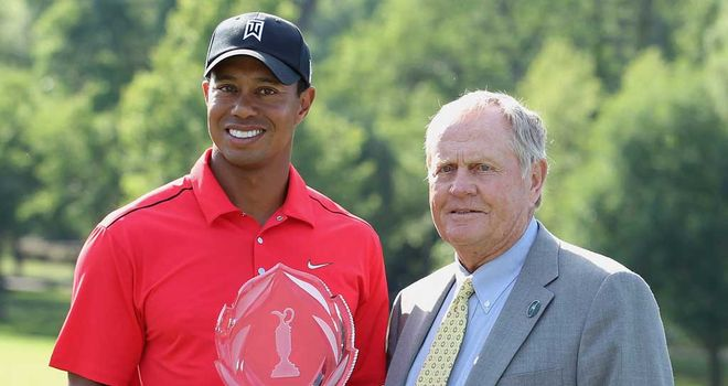 Tiger and Jack all smiles at The Memorial, but the pair are rarely seen together