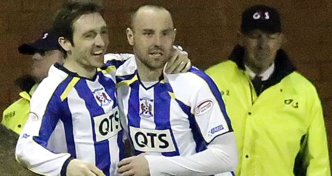 Kris Boyd: Congratulated after scoring the equaliser.
