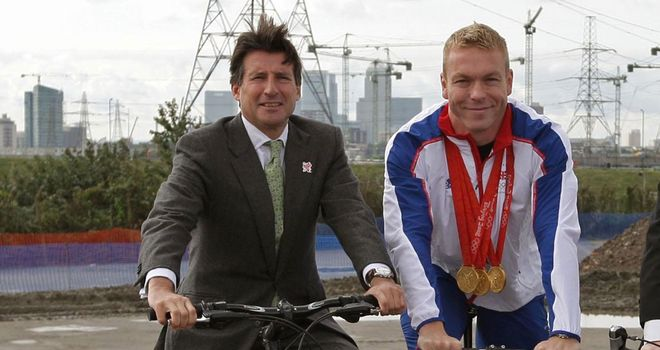 Lord Coe, left, has paid tribute to the career of Sir Chris Hoy