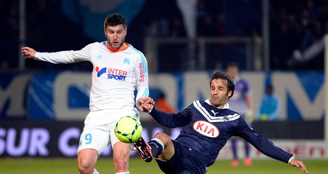 Andre-Pierre Gignac in action for Marseille.