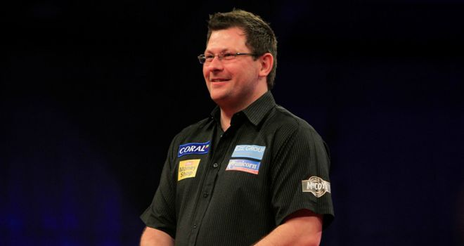 James Wade: Held his nerve to secure a draw with Phil Taylor
