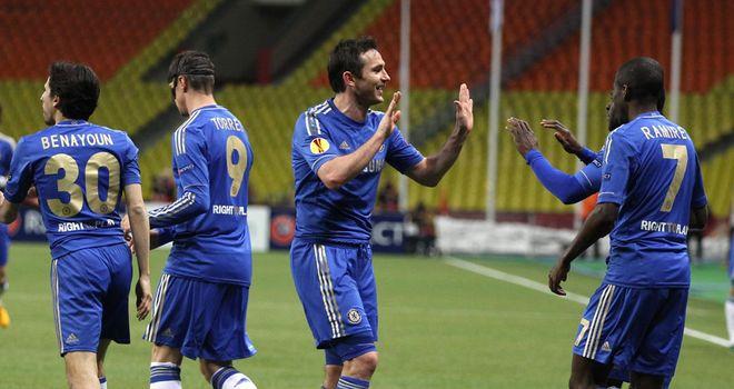 Chelsea celebrate Europa League progress at Rubin Kazan