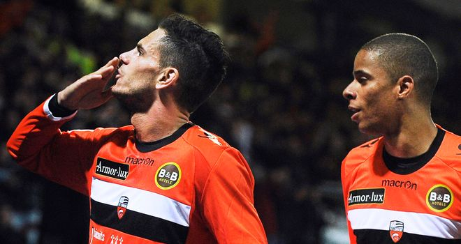 Jeremie Aliadiere: Winning goal for Lorient