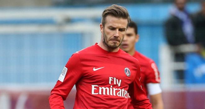 David Beckham: Sent off in stoppage time