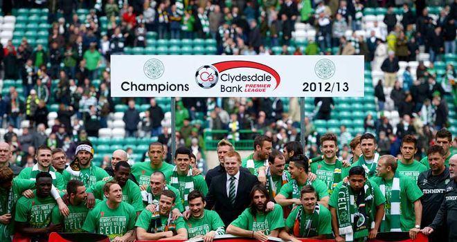 Celtic celebrate a 44th title in front of their own supporters