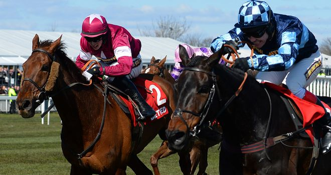 Menorah (right): Will carry top weight if lining up at Punchestown on Wednesday