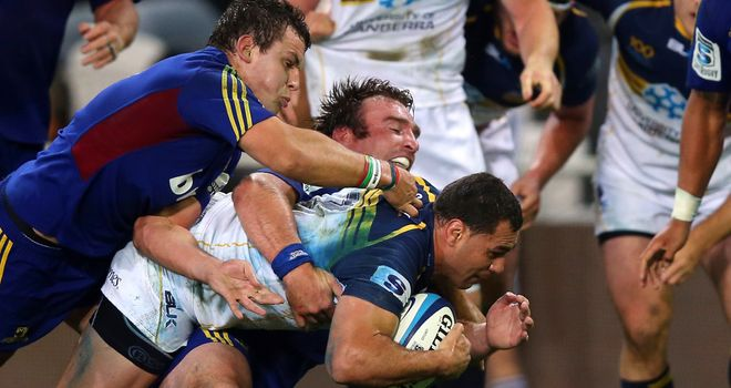 George Smith found enough strength to touch down as the Brumbies beat lowly Highlanders in Dunedin