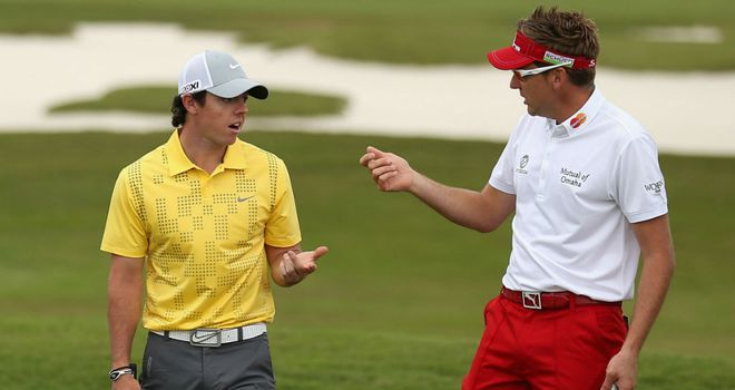 Rory McIlroy (L) and Ian Poulter (R) will use this week's event in Texas to fine-tune ahead of Augusta