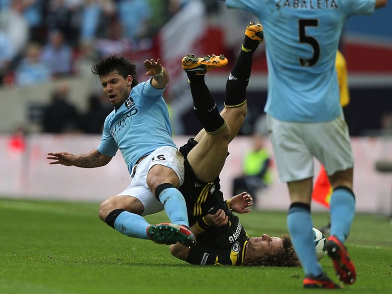 Sergio Aguero: Will face no action following tackle on David Luiz