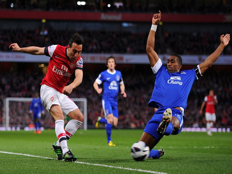 Arsenal v Everton saw a half-time confrontation