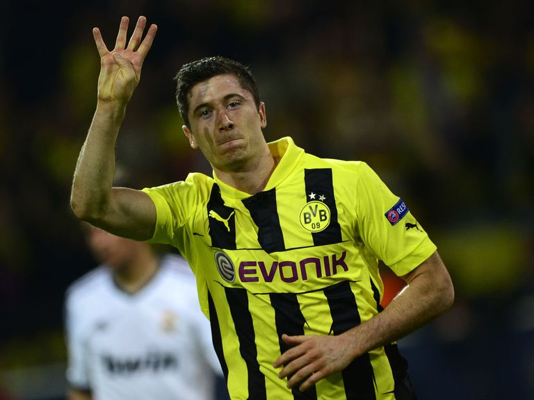 Lewandowski: Became just the eighth player to score four goals in a Champions League match