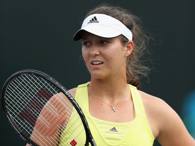 Laura Robson: Knocked out in three sets