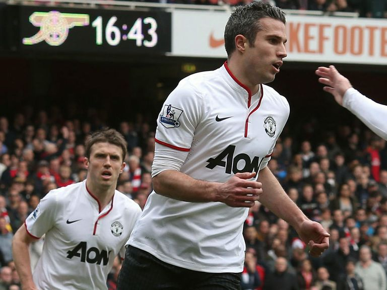 Robin van Persie and Michael Carrick: Included in PFA team of the year