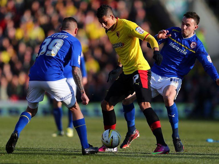 Watford and Cardiff drew 0-0 in the evening game