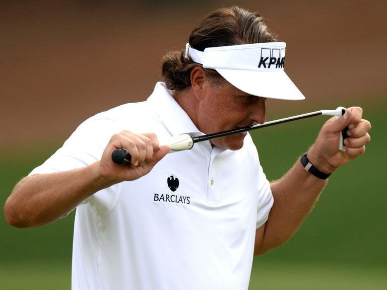 Phil Mickelson: Shot 71 to sit five off the overnight lead