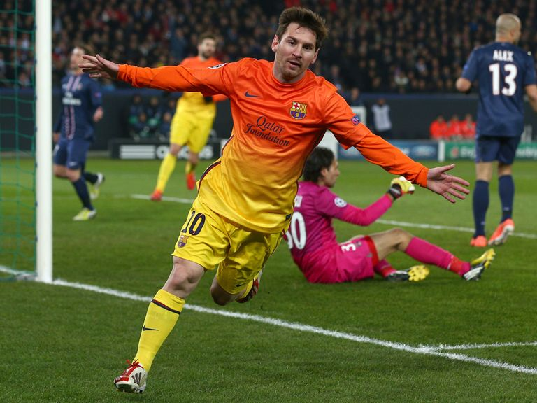 Lionel Messi: Limped off after scoring against Bayern