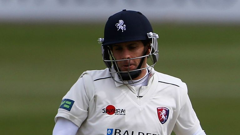 Brendan Nash: Top-scored with 107 off 152 balls for Kent