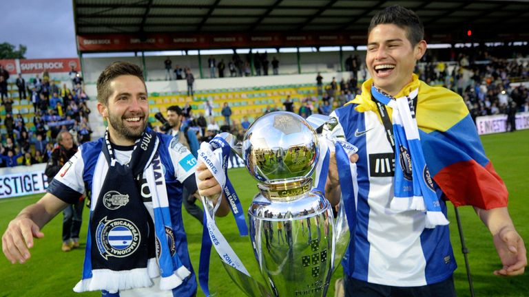 Joao Moutinho and James Rodriguez: The duo have been confirmed as Monaco signings