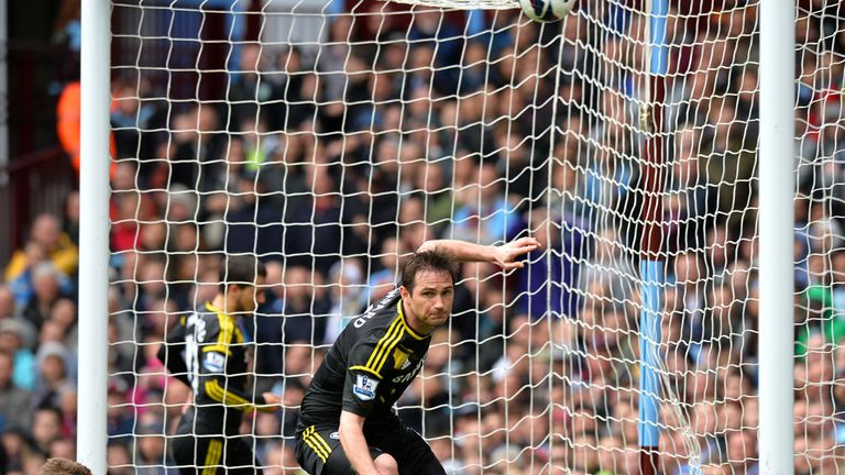 Frank Lampard: Scores the record-breaking goal
